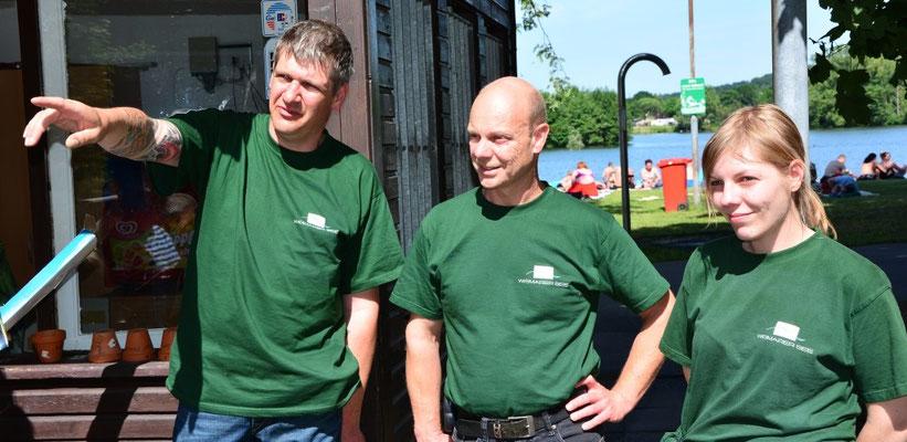 Ein Teil des Wißmarer See-Teams mit Chef Mike Will