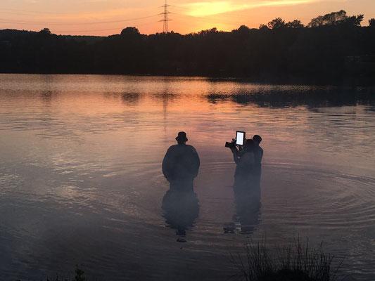 Moses Pelham dreht Video am Wißmarer See für BGMB