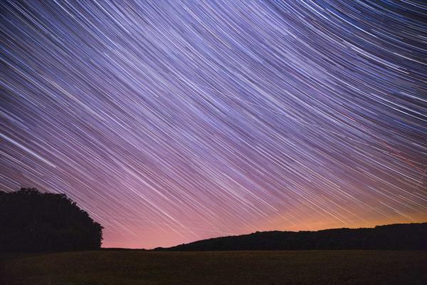 Langzeitbelichtung der Sternhimmles Blickrichtung Nordosten