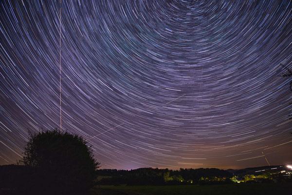 Langzeitbelichtung der Sternbildes Großer Wagen