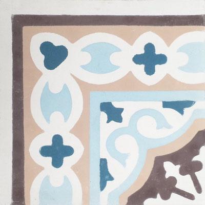 Cimenterie de la Tour, Zementfliese_Ecke: Provencal B0171C, 20x20 / 1,7 cm