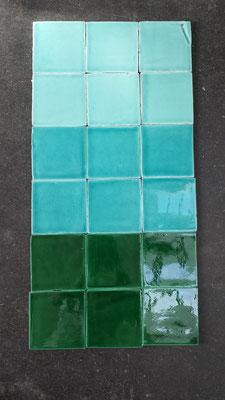 AK_Farben: Verde Mar / Verde Azulado / Verde Cobre, 10x10 cm