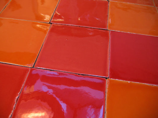 AK_Farbe: Caqui + Rojo, 13x13 cm