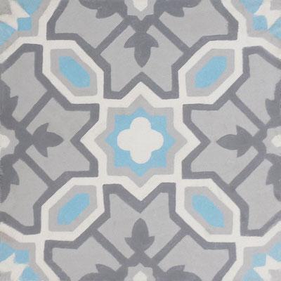 Cimenterie de la Tour, Zementfliese_Dekor: Claret M0410, 20x20 / 1,7 cm