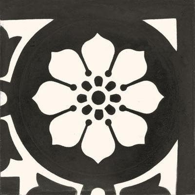 Couleurs & Matières, Zementfliese_Ecke: NB 16, 20x20 / 1,5 cm