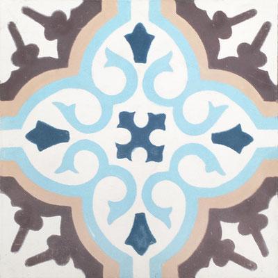 Cimenterie de la Tour, Zementfliese_Dekor: Provencal M0082, 20x20 / 1,7 cm