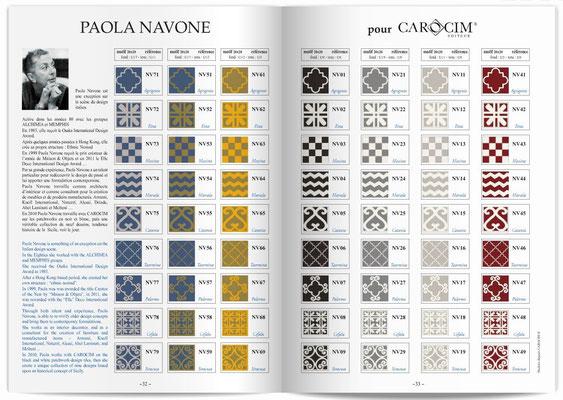 SOUTHERN TILES_Zementfliesen von CAROCIM, designed by Paola Navone