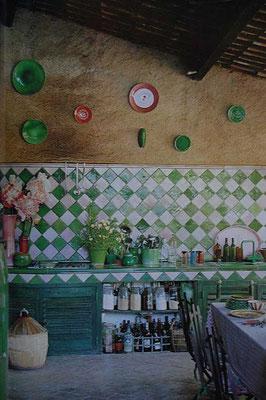 "Serie ""Provenza"" 13x13 cm, blanco + verde vic (Foto: Pinterest)"