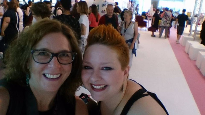 Last but not least: Selfie mit dem wunderschönen Plussize-Model Christin Thomsen.