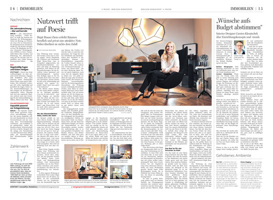 Homestory Birgit Brauer-Ziem, staged homes, Berliner Morgenpost, 23.02.2019