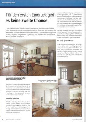 staged homes im Immobilien Journal Berlin & Brandenburg