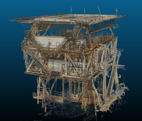 quick 3D reconstruction low res on offshore platform