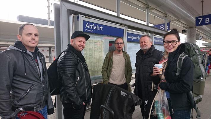 ... so und auf geht´s mit dem Zug nach Wien ...