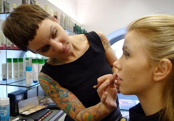 ... auch Katharina Lenz unterstütze uns mit ihren Make-Up-Künsten