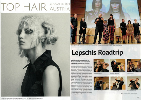 Bericht von TopHair Austria (Dezember 2019) - Roadtrip 2019 und Fashion Classics Collection 2020 - Lepschi&Lepschi Hairdressing Linz