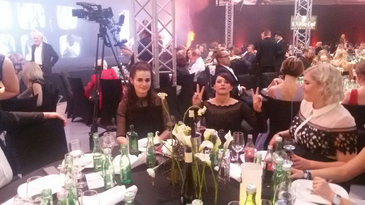 ... die Gala neigt sich dem Ende zu ...