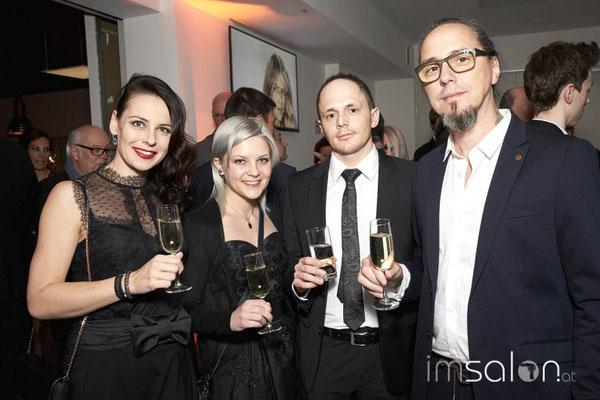 ... Claudia Anzinger, Christina Lepschi, Stefan Kaisinger und Stefan Dokoupil!