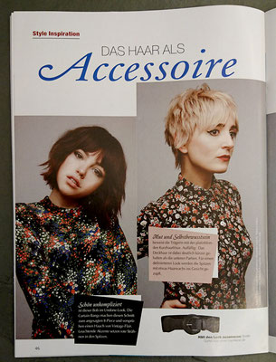 Bericht von Trend Frisuren (April 2019) - Collection: ACCESSOIRES