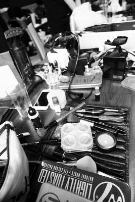 Vorbereitungen zur Show