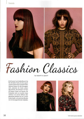 Bericht von TopHair Austria (Juni 2020) - Collection Fashion Classics Collection 2020 - Lepschi&Lepschi Hairdressing Linz