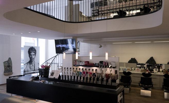 Friseursalon LEPSCHI&LEPSCHI Hairdressing in Linz - Innenansicht Erdgeschoss