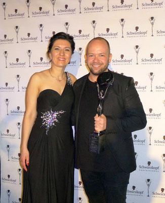 Sonja Knautz und der frisch gekürte Hairdresser of the Year