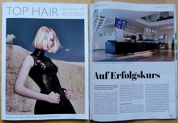 Bericht von TopHair Austria (August 2019) - Salonportrait Lepschi&Lepschi Hairdressing Linz