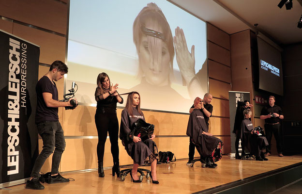 Theresa Schirz (Art Director), Alexander Lepschi (Executive Art Director) und Christina Pumberger (Art Director) - LIVE on STAGE