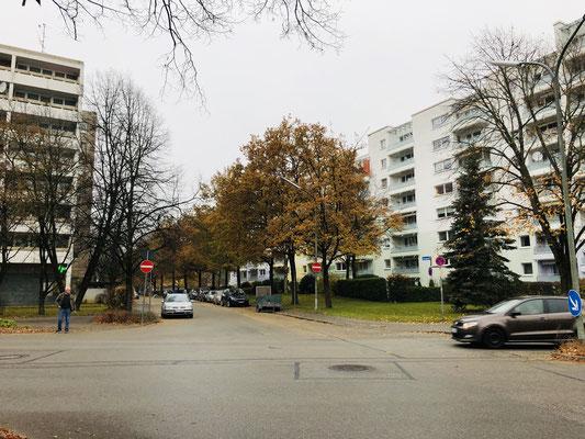 Die südliche Eichenstraße - Fahrradfahrer sollen hier auch entgegen der Fahrtrichtung fahren dürfen