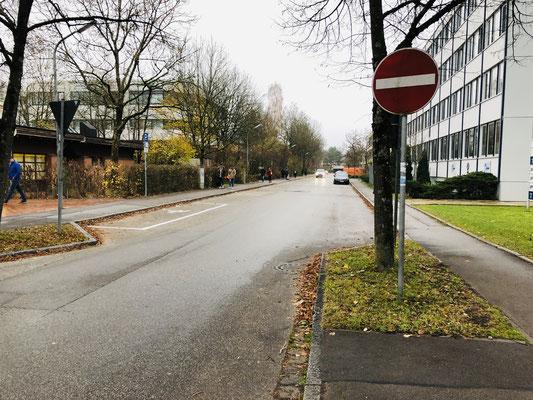 Die nördliche Eschenstraße - Fahrradfahrer sollen hier auch entgegen der Fahrtrichtung fahren dürfen