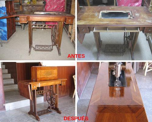 Restauración de máquina de coser Alfa. 1930-40.