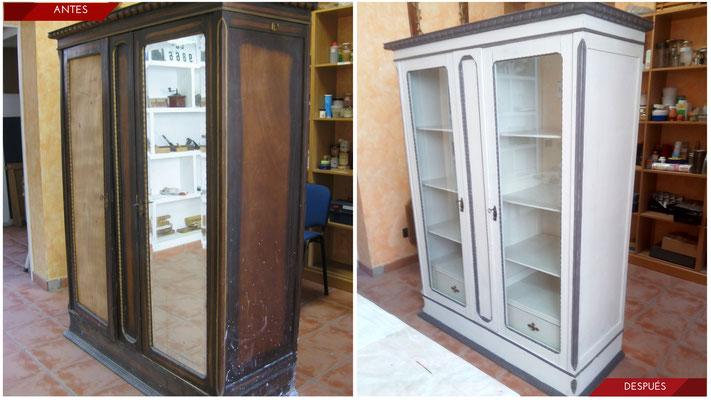Restauración de armario con pintura a la tiza