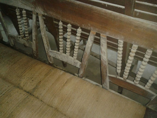Restauración de banca antigua. Siglo XIX