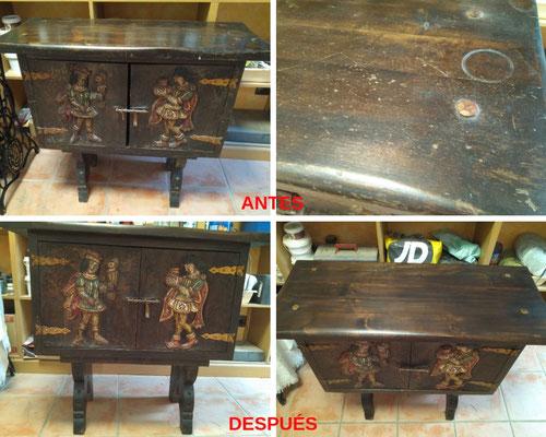 Restauración de mueble policromado. Siglo XX.
