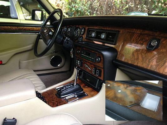 Restauración de revestimiento de madera de Jaguar XJ 86