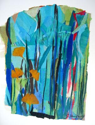 L'arbre aux 1000 écus (collage et inclusions, 60 x 80 cm, 2010)