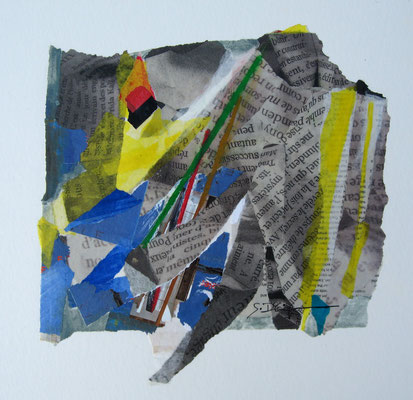 Ecriture (collage, 50 x 45 cm, 2010)