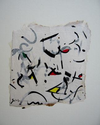 La danse des signes (collage, 50 x 50 cm, 2005)