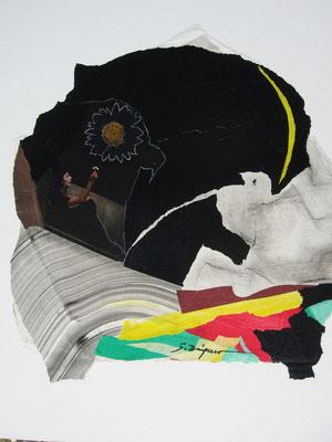 Le poète (collage, 60 x 60 cm, 2010)