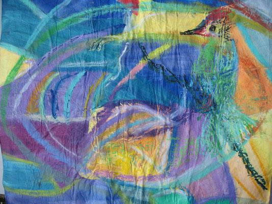 Trou dans l'eau (collage, 50 x 50 cm, 2000)