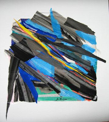 Ligne de fracture (collage acrylique, 65 x 75 cm, 2014)