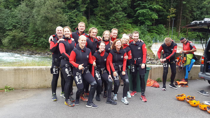 Betriebsausflug Canyoning in Tannheim