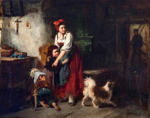Rudolf Epp (1834 -1910), Der ungebetene Gast, Stadt Eberbach