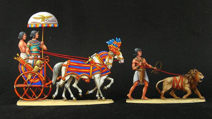 Ramses II auf dem Marsch nach Kadesch (Philippe Fourquet)