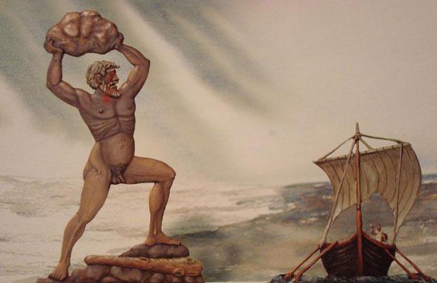 Odysseus verhöhnt Polyphem