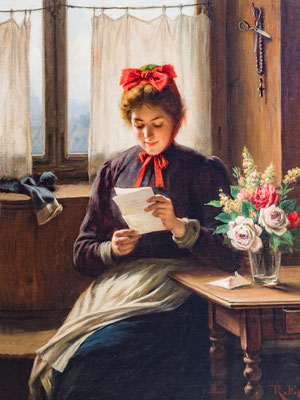 Rudolf Epp (1834 -1910), Liebesbrief, Privat