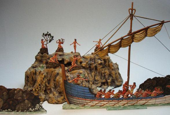 Das Schiff des Odysseus bei den Sirenen