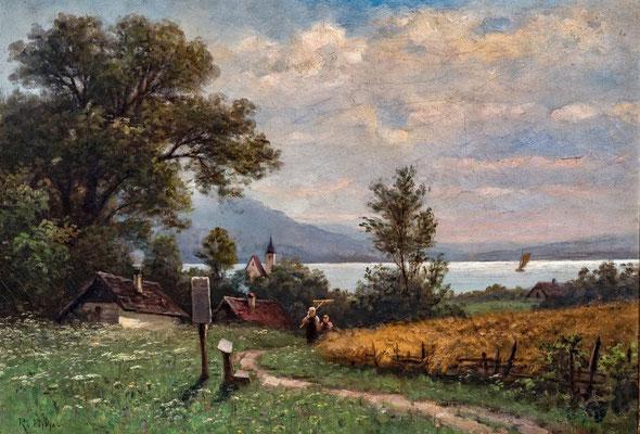 Rudolf Epp (1834 -1910), Seelandschaft mit Martel, Privat