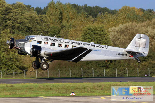13.10.2017 HB-HOT JU-Air Junkers Ju-52