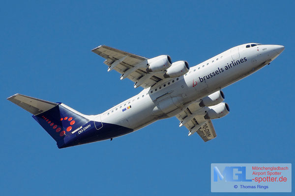 20.04.2013 OO-DWH Brussels Airlines BAe-146 Avro RJ100